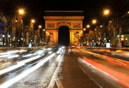 Paris på natten